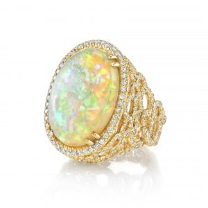 Opal Cloud Ring